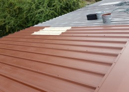 Painting existing roofing & cladding