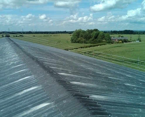 Grain store with Eternit fibre-cement roof sheeting