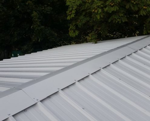 Composite roof panels before fitting of Tile Effect roofing top sheet