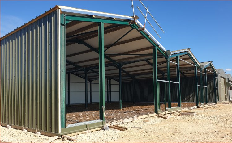 Supply & erect kit form buildings inc. cladding